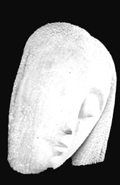 Art Deco Stone Head