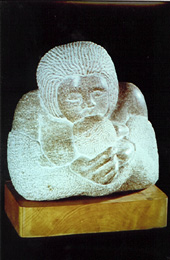 Carved Sculpture Of Mother And Child